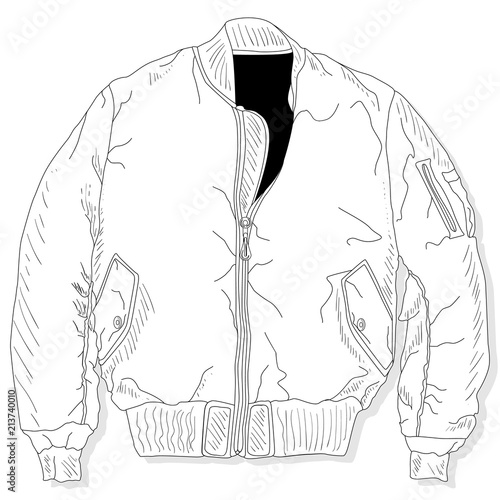 Pilot Jacket Bomber Vector Stock Image And Royalty Free Vector