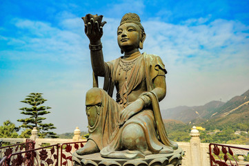 The Offering of the Six Devas. Big Buddha (Tian Tan Buddha). Hong Kong. China