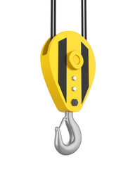 Crane Hook Isolated