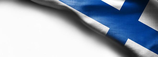 Finland Flag on white background -