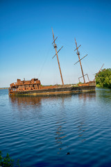 Shipwreck on the sea