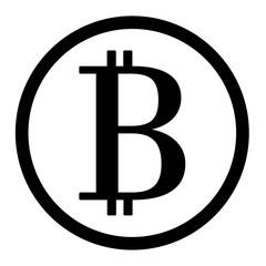 Bitcoin black circle icon vector eps 10
