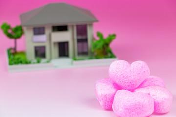 住宅購入 マイホーム 家族 家庭 幸福イメージ
