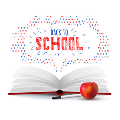 Back to school. Vector education illustration. School poster