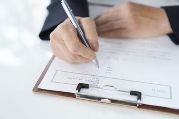ビジネスシーン 署名押印