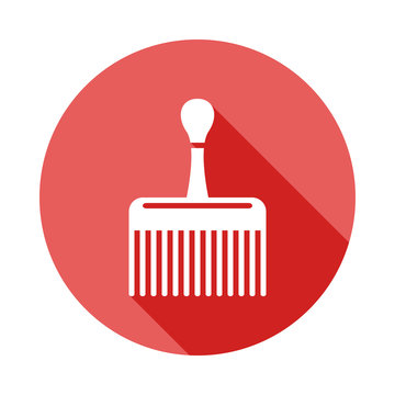 wide comb long shadow flat icon. Element of barber icon for mobile concept and web apps. Long shadow wide comb  icon can be used for web and mobile