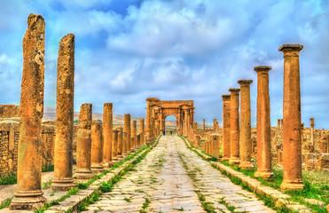 Timgad, ruins of a Roman-Berber city in Algeria.