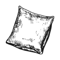 cushion sketch monochrome. isolated on white background