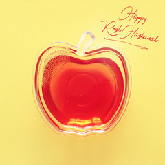 rosh hashanah (jewesh holiday) concept - honey traditional holiday symbol.