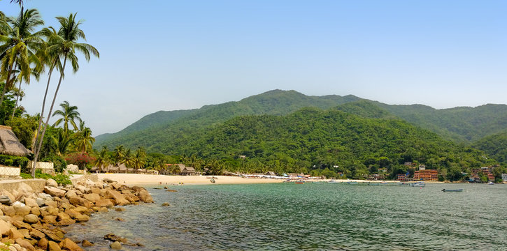 Panorama of Yelapa Beach in Mexico