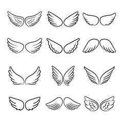 Cute angel wings set