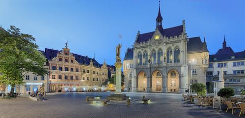 Marktplatz Rathaus Erfurt Beleuchtet