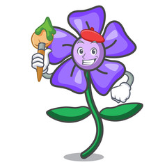 Artist periwinkle flower character cartoon