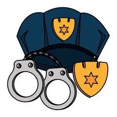 police cap and handcuffs
