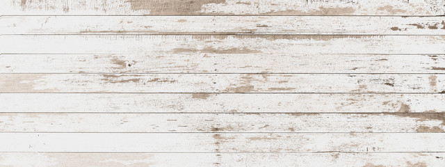 Poster Bois wood board white old style abstract background objects for furniture.wooden panels is then used.horizontal