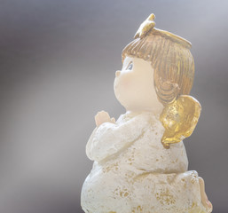 Baby Girl Angel On White Background 5