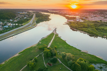 Neman and Neris confluence, Kaunas, Lithuania