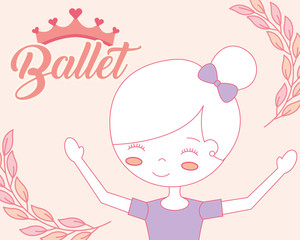 beautiful ballerina ballet cartoon girl