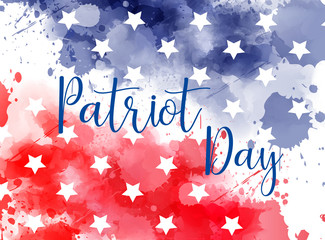 USA Patriot day background.