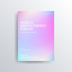 Colorful color brochure design, abstract cover design, iridescent background