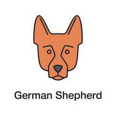 German Shepherd color icon