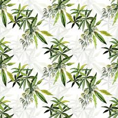 Decorative image of wildflowers. Seamless pattern lupine.