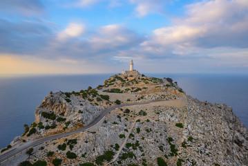 Formentor Lighthouse at sunset, Majorca, Spain