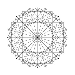 Vector illustration of a geometrical figure created from Sacred Geometry elements.