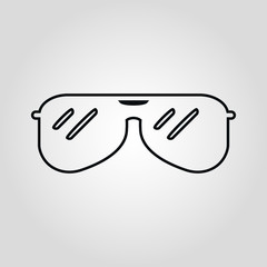 Sunglasses icon isolated flat vector icon