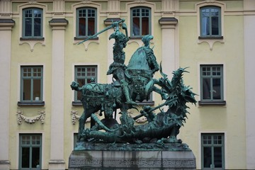 Saint George and the Dragon Statue
