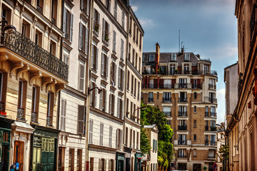 Elegant buildings in Montmartre neighborhood