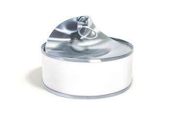open white tin can