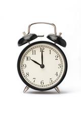 Alarm clock face isolated on white background
