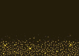Golden confetti background