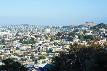 San Francisco downtown in sunny day. California, USA