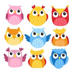 owl character vector design