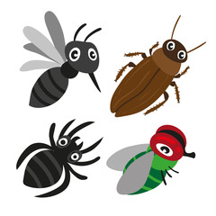 insect character vector design