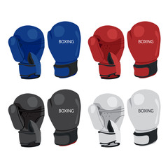 boxing gloves vector collection design
