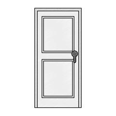 door wooden isolated icon