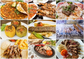 Turkish food collage