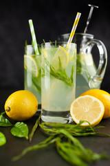 Tarragon lemonade drink