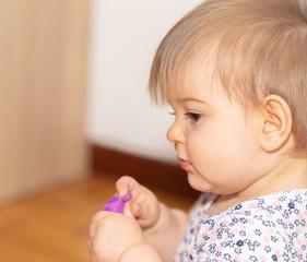 Portrait Of Sweet Litle Baby Girl 3