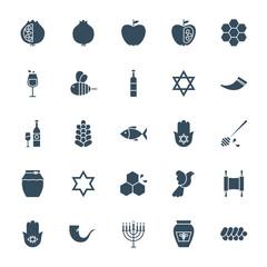 Rosh Hashanah Solid Web Icons