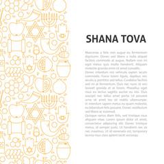 Shana Tova Line Pattern Concept