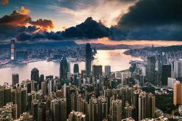 Fotomurales - City at Sunrise