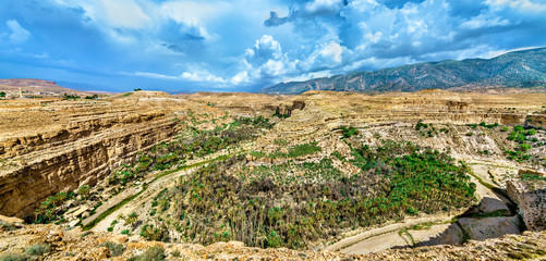 Panorama of Ghoufi Canyon in Algeria