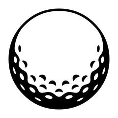 Golfball / schwarz-weiß / Vektor / Icon
