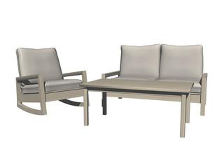 Sitzecke mit Polstergarnitur und Tisch