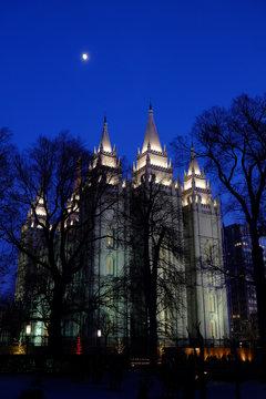 Salt Lake City Mormon LDS Latter-day Saint Temple for Religion