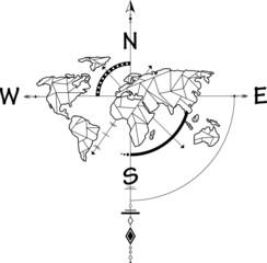 Kompass mit Karte